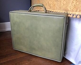 Vintage Sage Green Suitcse,Luggage,Storage Case, Travel Suitcase/Wedding