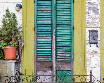 New Orleans Weathered Door Greeting Cards