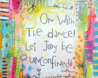 On With the Dance - 8x10 art print