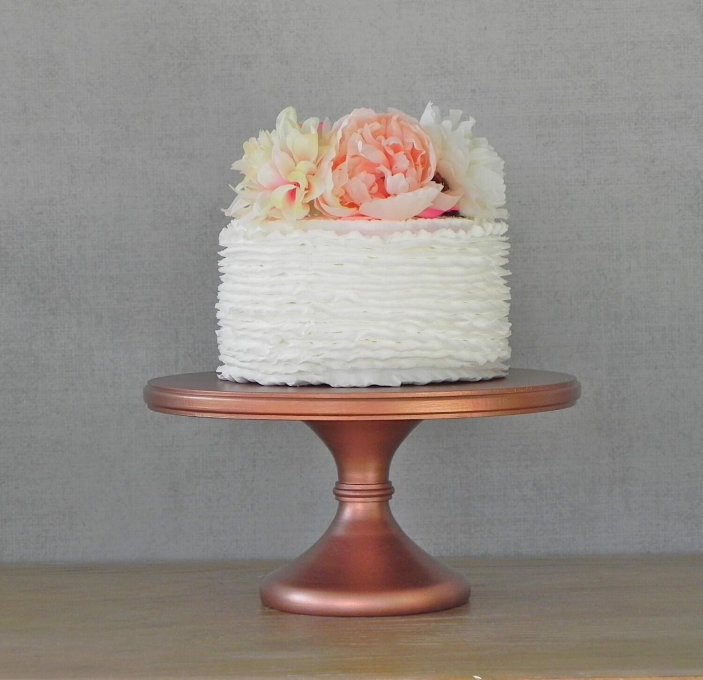 16 Wedding Cake Stand Cupcake Pedestal Rose Gold Copper