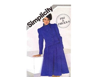 SALE Misses Princess Seam Jacket and Flared Skirt Simplicity 5759 Vintage Sewing Pattern Size 12 - 14 - 16 Bust 34 - 36 - 38 UNCUT