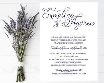 10 Navy Rehearsal Invitations - Navy Wedding Rehearsal Invitation - Navy Wedding - Reharsal Dinner Invitation - Wedding Rehearsal - Weddings