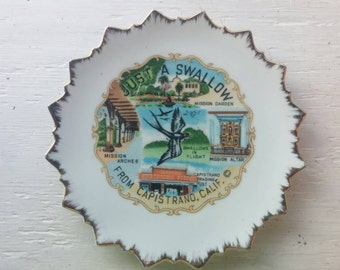 Fun SOUVENIR PLATE from CAPISTRANO California