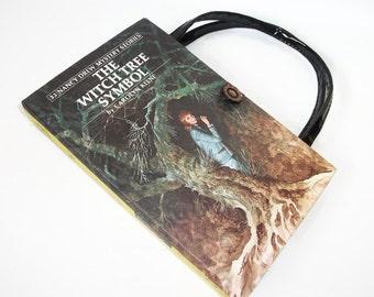 Nancy Drew Book Purse Witch Tree Symbol Handbag 1975 Vintage Book Purse