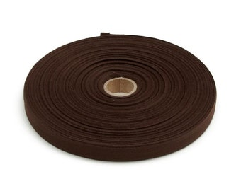 "Twill Tape Cotton 5/8"" width Brown 10 Yards"