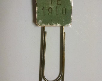 Maine State House Copper Roof Book Clip Limited Edition Stamped ME 1910 RM