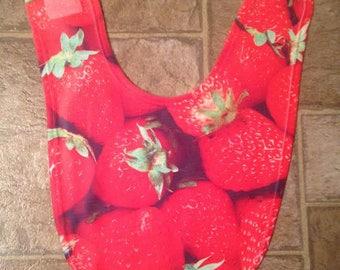 Strawberry infant bib Cute baby drool bib Baby shower gift Newborn baby gift funky baby bib Strawberry baby bib Fruit bib Custom