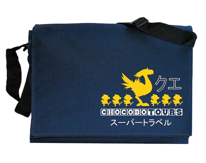 Chocobo Tours Navy Blue Messenger Shoulder Bag