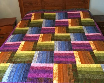 Sonoma Valley large twin quilt