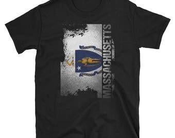 Massachusetts State Flag T-Shirt Massachusetts Hometown Shirt Massachusetts Gift