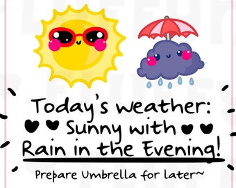 Weather Forecast    Planner Stickers, Cute Stickers for Erin Condren (ECLP), Filofax, Kikki K, Etc.    DPS156