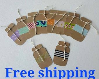 Mason jar tags. Tags. 10 mason jars, 2 inches of cuteness. Thank you tags. Gift tags. Mason jars labels. Free shipping.