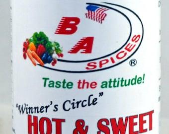 Hot & Sweet Rub and Seasoning - Winner's Circle - Artisan Blended - Gluten Free, No MSG, Kosher