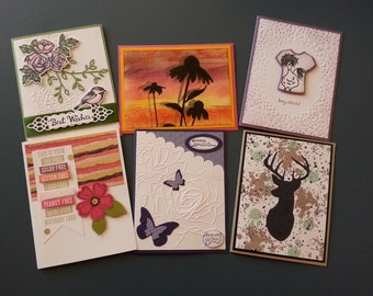 Handmade greeting cards package of 6