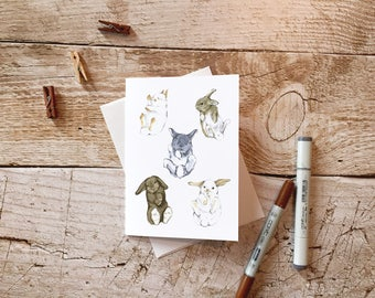Easter Bunny Greeting Card - Happy Easter Cards, Cute Easter Cards, Funny Easter Cards, Rabbit Card for Friends