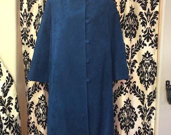 Royal Blue Vera Maxwell Suede Jacket