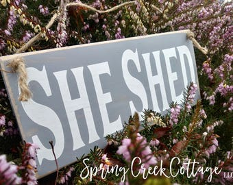 Signs, She Shed, Wood Signs, Handpainted, Mothers Day, Garden Signs, Outdoor Decor, Custom Sign, Personalized Signs, Rustic, Gifts For Her