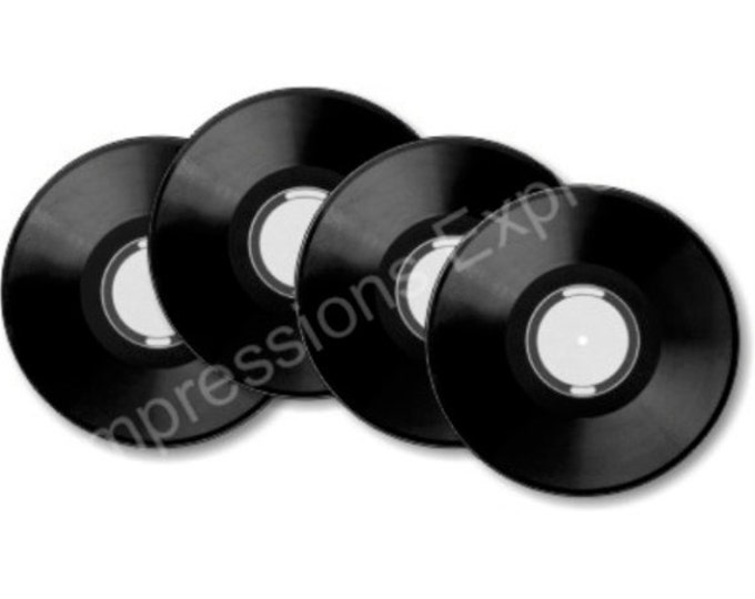 Featured listing image: Vinyl Record Coasters - Set of 4