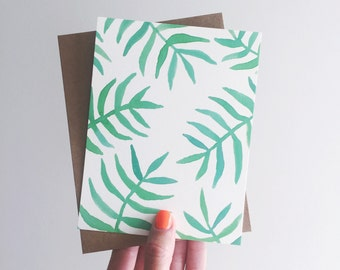 greeting card / palms