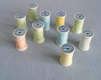 Wholesale bundle ten rainbow porcelain COTTON REELS ceramic storage boxes