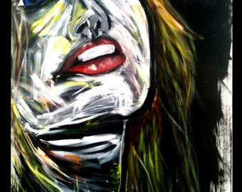 """Whispy Acrylic and Oil on Canvas 30"""" x 40"""""""
