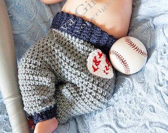 Crochet Baby Pants Pattern, Baby baseball pants pattern, Crochet Pattern, Billy Baseball Pants Crochet Pattern, Crochet Baby Pattern