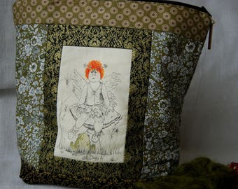 Red haired fairy project bag