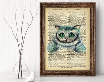 The Cheshire Cat Dictionary page print