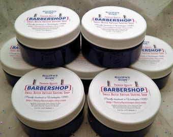 BARBERSHOP - Scented Luxury Tallow & Shea Butter Shaving Soap - 5.0 Oz Tub
