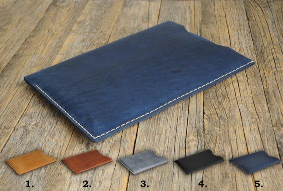 Case for iPad Pro 10.5-inch, 9.7-inch, 12.9‑inch Air 2 Mini 4 3 2 Cover PERSONALIZED. Waxed and Aged Leather Sleeve. Hand Sewn Style Bag.