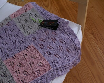 Soft Breeze- knitted cotton-cashmere Throw-cotton-cashmere quilt-cashmere afghan-cashmere knitted blanket-Knitted cotton-cashmere bed cover
