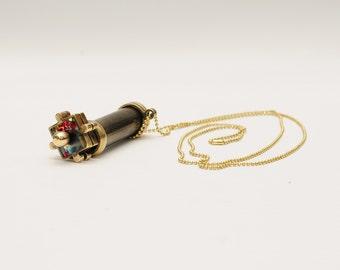 Mini Puzzle Wheels Kaleidoscope, Mini Kaleidoscope, Brass kaleidoscope, Personalized gift, Christmas gift, Gift idea