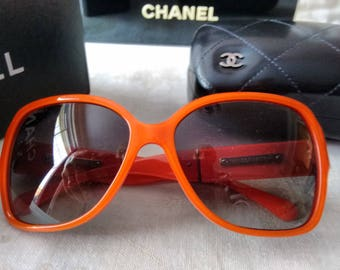 Chanel Oversized Orange Sunglasses Ab Fab