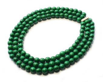 faceted jade jewelry gold necklace bling graduated bead green
