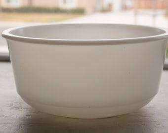 Milk Glass Mixing Bowl, Large