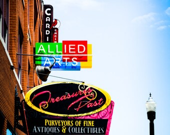 Oklahoma City - Neon Sign - Buildings - Automobile Alley - Architecture - Downtown - Automobile Alley Neon