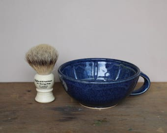 Rustic Blue Wet Shaving Bowl - UK