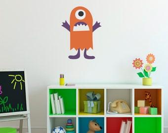 Monster Wall Decal - Monster Wall Art - Children Wall Decals - Printed Decal - 3