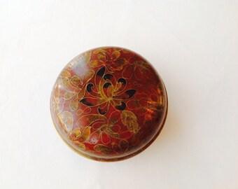 Jingfa cloisonné pot with lid