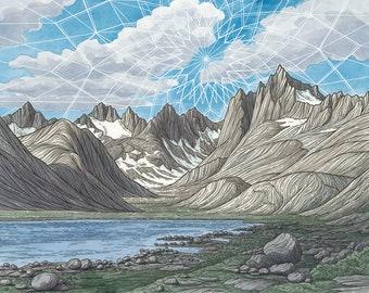 Titcomb Basin 11x14 Original Painting - Mountain Climbing Art - Wind River Range Wyoming Landscape