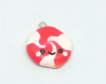 Christmas Peppermint faces polymer clay charms