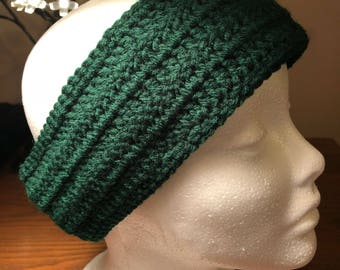 Hunter green earwarmers