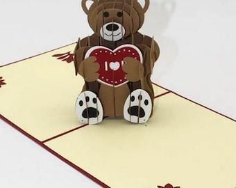 3d Pop Up Teddy Bear Card