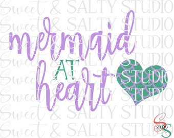 mermaid at heart digital file
