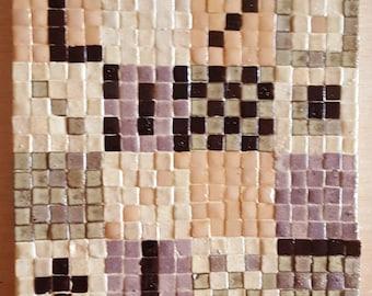 Little ceramic mosaic: Patches; Ceramic micromosaic coasters Patches; micromosaic ceramic