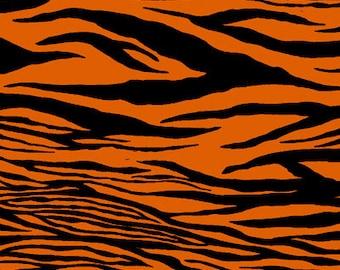 1 Yard Legend of Webb Hill Orange Black Zebra Stripe by Dana Brooks for Henry Glass