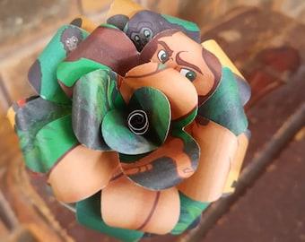 Tarzan Disney Book Bouquet-Book lover gift-Book Bouquet-Book decor- Unique Gift- Bridal Bouquet- Paper flowers-Wedding- Valentines