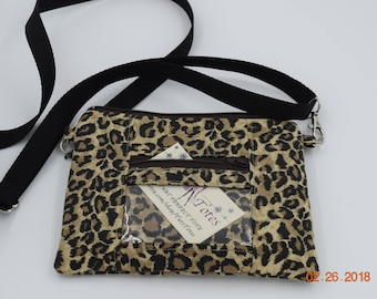 Clutch | ID wristlet | ID Clutch | Cellphone Clutch | Cell Phone Wallet | Credit Card Wallet | Coin Purse | Cheetah Print