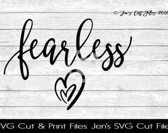 Fearless SVG Cut File, SVG files for Die Cutting Machines- Vinyl htv Clip art - Commercial use