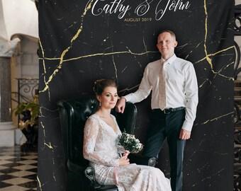 Marble Wedding Decor, Rose Gold Wedding Backdrop Decorations, Modern Wedding Decor, Photo Booth Backdrop /W-A58 BEC1 AA3